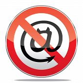 stock photo of no spamming  - Vector illustration of spam sign on a white background - JPG