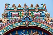 picture of meenakshi  - relief of menakshi temple madurai tamil nadu india - JPG