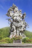picture of arjuna  - Kumbakarna Laga statue in Eka Karya Botanical Garden Bedugul Bali Indonesia - JPG
