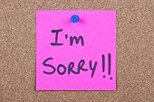 Post Note With I'm Sorry