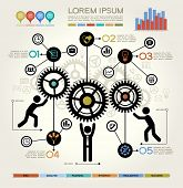 stock photo of cogwheel  - Modern Business Concept  - JPG
