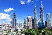 foto of klcc  - Kuala Lumpur skyline - JPG