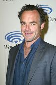 ANAHEIM, CA - MARCH 31: Paul Blackthorne arrives at the 2013 Wondercon convention press room at the