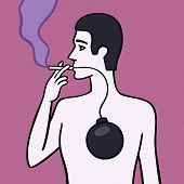 pic of smoker  - Smoker causes slow damage to your health and body - JPG