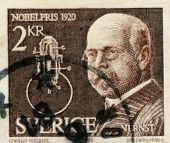 Stamp from Sweden Nobel Prize
