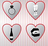 Hearts vector icons