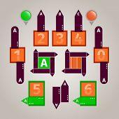 Elemento abstracto infografía