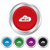 Sinal Wi-Fi gratuito. Símbolo de WiFi. Rede sem fio.