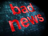 News-Konzept: schlechte Nachrichten auf digitale Hintergrund