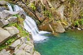 stock photo of pieniny  - The Zaskalnik Waterfall in the Pieniny mountains range - JPG