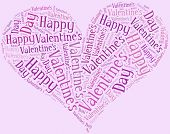 picture of broken heart flower  - Tag or word cloud Valentine - JPG