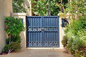 Entry Black Wrought Iron Gates