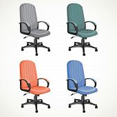color vector office chair isolated on white background
