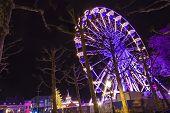 Turning Ferris Wheel On Achristmas Market, Maastricht, The Nethe
