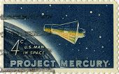 Vintage Us Space Postage Stamp