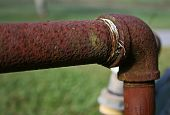 Rusty Pipe With Elbow Fitting
