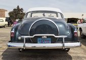 1952 Chevy Deluxe Blue Back Close