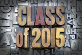 picture of senior class  - Class of 2015 written in vintage letterpress type - JPG