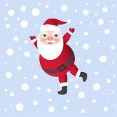 Ilustração vetorial de Papai Noel para cartão de Natal