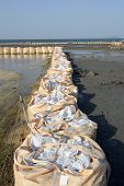 stock photo of sandbag  - big sandbags - JPG
