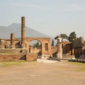 Pompeii And Vesuvius Square