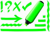 stock photo of fluorescent  - Green fluorescent marker  - JPG