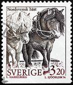 Swedish Horses Stamp