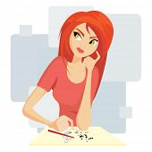 Pretty girl painting
