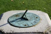 Sundial in the formal garden