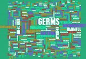 stock photo of germs  - Germs and Hygiene Infection as a Concept - JPG