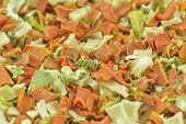 foto of clos  - Dehydrated vegetables ready for soups - JPG