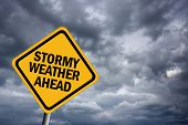 stock photo of waterspout  - High resolution image of stormy weather illustrated sign - JPG