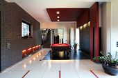 Modern Interior With Billiard Table