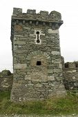 image of anglesey  - Folly tower ironically converted to a World War II pillbox - JPG
