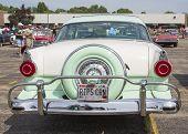 1956 Ford Fairlane Crown Victoria Green White Rear View