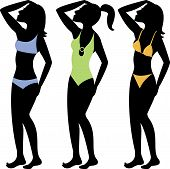 picture of monokini  - A collection of different swimsuit types - JPG