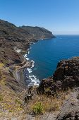 Panorama of beach Las Teresitas, Tenerife, Canary Islands, Spain