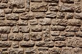 Stone Wall In Erice