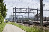 image of railroad yard  - Railroad tracks - JPG