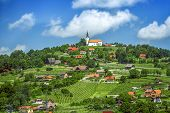 Panoramic View At Beautiful Village In Slovenia