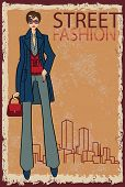 Trendy Girl.fashion Illustration.