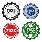Free sample product labels with