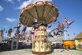 Lynn's Trapeze swing carousel in Coney Island Luna Park