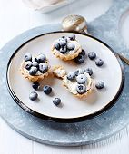 Tartlets wit Ricotta and Blueberries