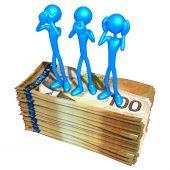 3 Wise Monkey Pose On Money