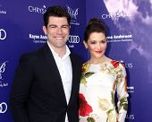 LOS ANGELES - JUN 7:  Max Greenfield, Tess Sanchez at the 13th Annual Chrysalis Butterfly Ball at Pr