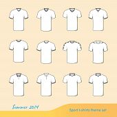 Sport T-shirts Illustration Set For Summer 2014