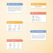 Timeline Infographics Design Template. Vector Elements