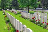stock photo of world war one  - New British Cemetery world war 1 flanders fields - JPG