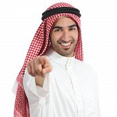 Arab Saudi Emirates Man Pointing You At Camera